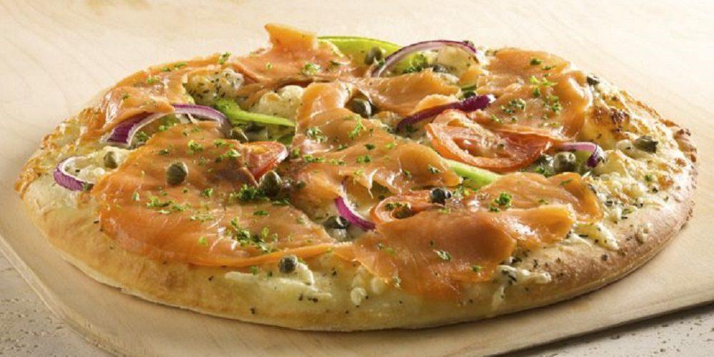 Focaccia au saumon fumé de la Piazzetta
