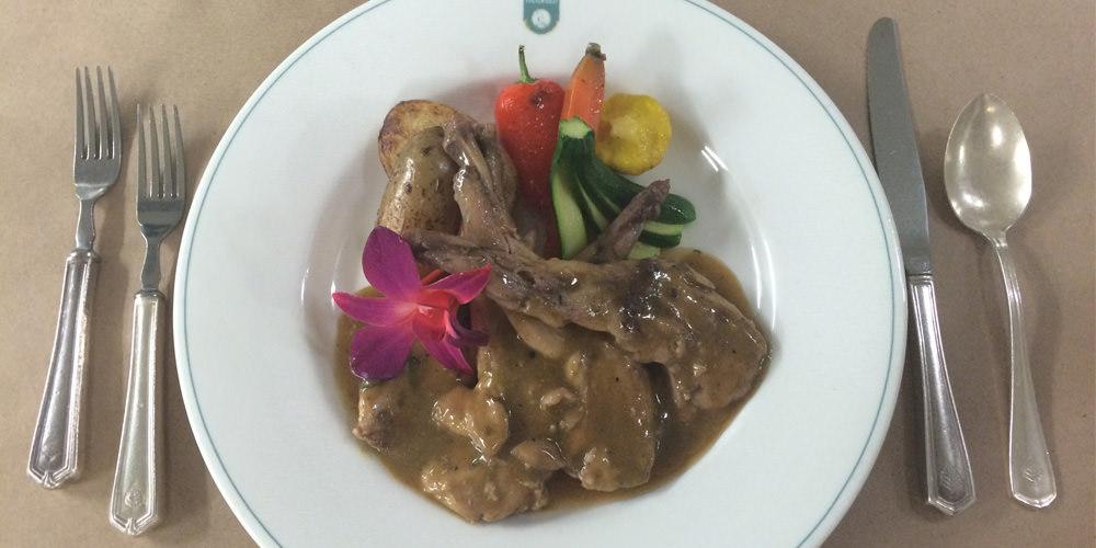 Épaule de lapin à l'érable et au curry